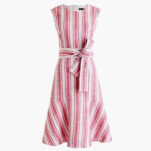 J Crew Linen Belted Dress size 2 NWT